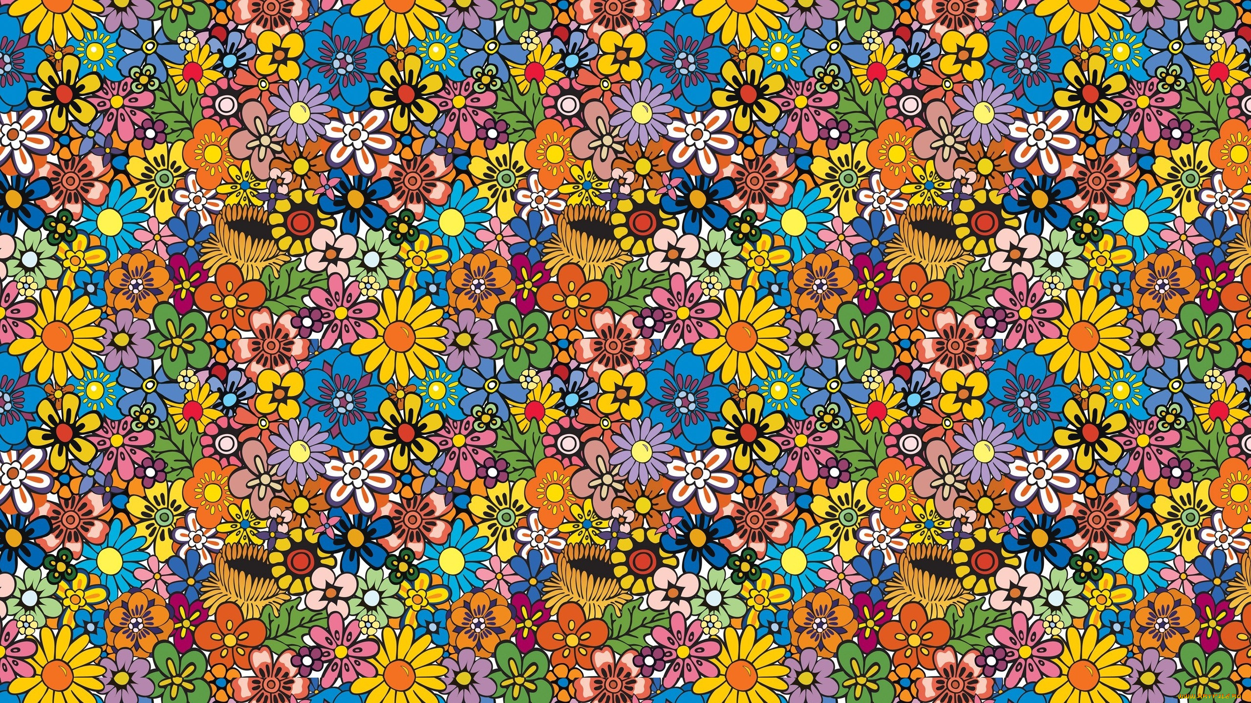Картинка с мелкими цветочками